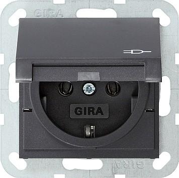 Gira Steckdose mit Klappdeckel 045428 System 55 anthrazit