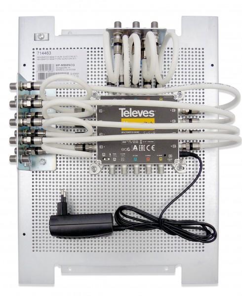 Televes Multischalter 5 in 8 Nevo m.Montageplatte MP-MS58NCQ