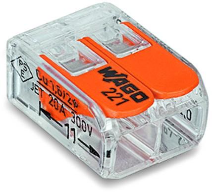 Wago 2-Leiter COMPACT Verbindungsklemme 221-412