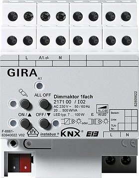 Gira KNX Dimm Aktor 1-Fach 217100