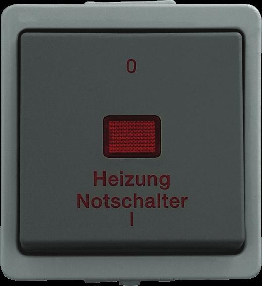 Presto Vedder Aufputz Heizungsnotschalter 2-polig grau 93962H