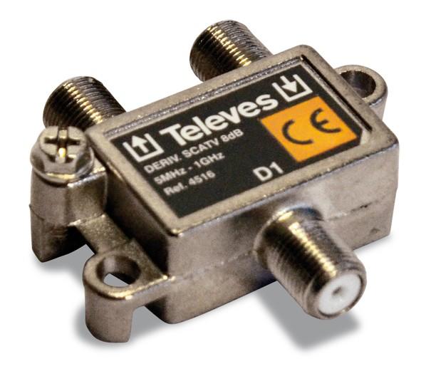 Televes Abzweiger 1f. 8dB, 5-1000 MHz AZ18