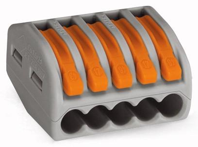 Wago Verbindungsklemme 5x 0,08 - 2,5mm² 222-415