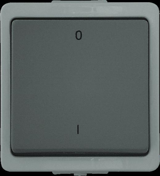 Presto Vedder Aufputz Ausschalter 2-polig grau 93652