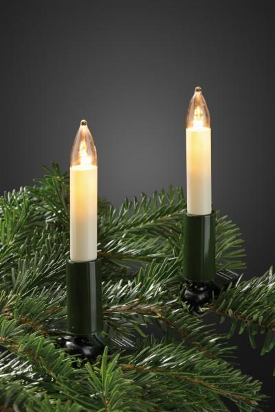 Hellum LED-Schaftkerzenkette 15er warm-weiß 801545