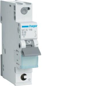 Hager Leitungsschutzschalter MCS116 1polig C16A