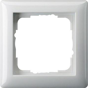 Gira 021103 Abdeckrahmen 1fach Standard 55 reinweiss glänzend