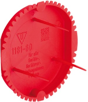 Kaiser Signaldeckel 60mm, rot 1181-60