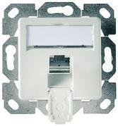 Telegärtner Netzwerkdose 1-Fach m.Zentralplatte Perlweiß, Cat6 AMJ45 J00020A0504