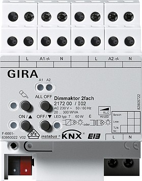 Gira KNX Dimm Aktor 2-Fach 217200