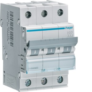 Hager Leitungsschutzschalter MCN310 3polig C10A