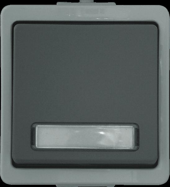Presto Vedder Universal Aufputzschalter Aus-/Wechsel m. Beschriftungsfeld grau 93656B