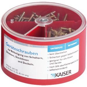 Kaiser Schraubenbox 15/25/40mm. 2471-91