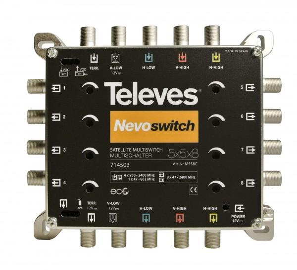 Televes Multischalter 5 in 8 Guss NEVO MS58C