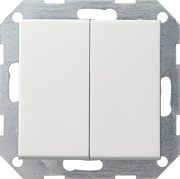 Gira Tast-Serienschalter reinweiß-glänzend 012503