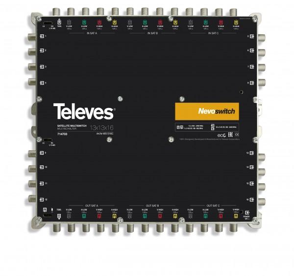 Televes MS1316C Multischalter 13 in 16 Guss NEVO