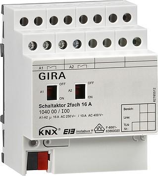 Gira Schaltaktor KNX/EIB 2fach 16A REG 104000